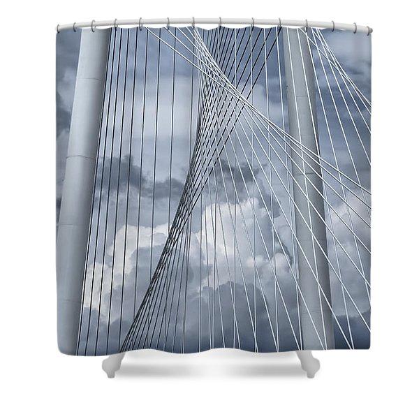 New Skyline Bridge Shower Curtain