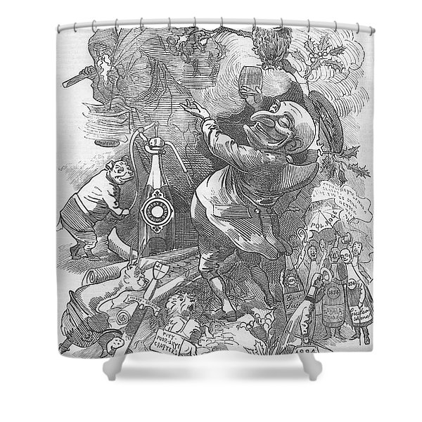 New Years Eve 1884 Shower Curtain