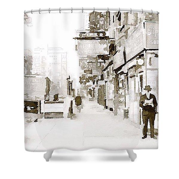New York 1940 Shower Curtain