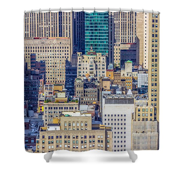 New York City Buildings Abstract Shower Curtain