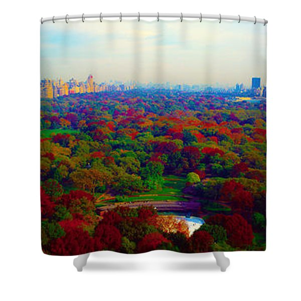 New York City Central Park South Shower Curtain