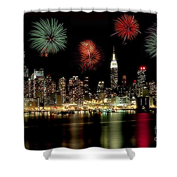 New York City Fourth Of July Shower Curtain