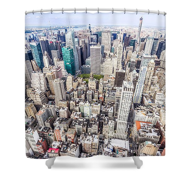 New York City From The Empire State Building Shower Curtain