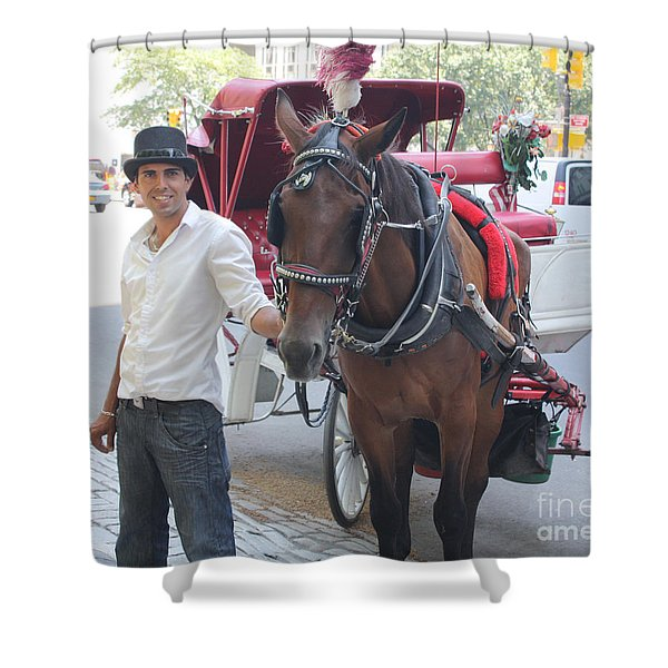 New York City Horse And Carriage Shower Curtain