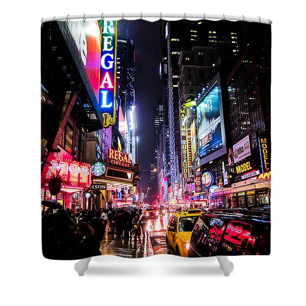 New York City Night Shower Curtain