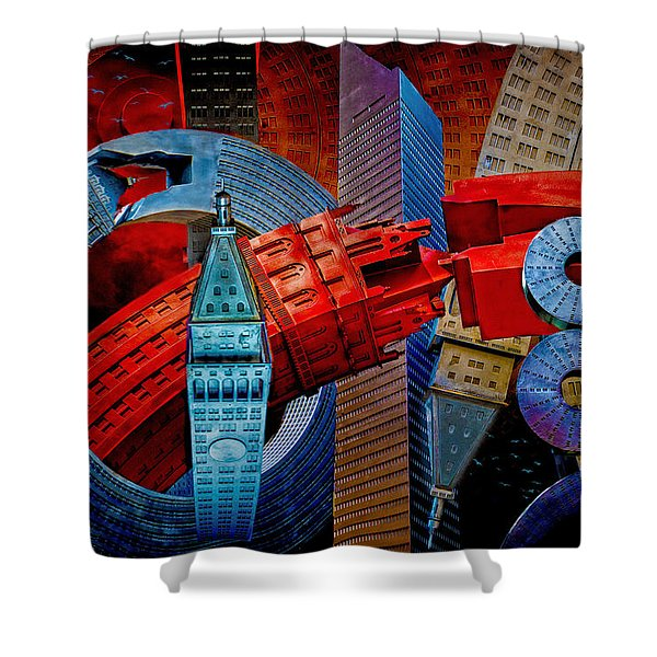 New York City Park Avenue Sculptures Reimagined Shower Curtain