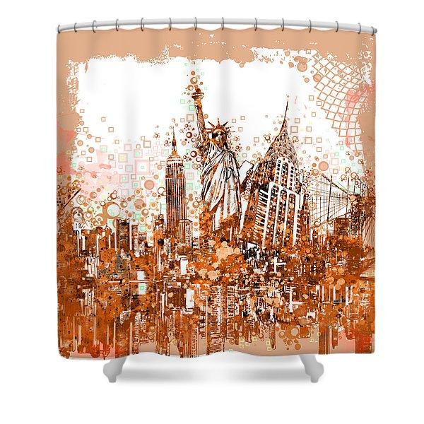 New York City Tribute 4 Shower Curtain