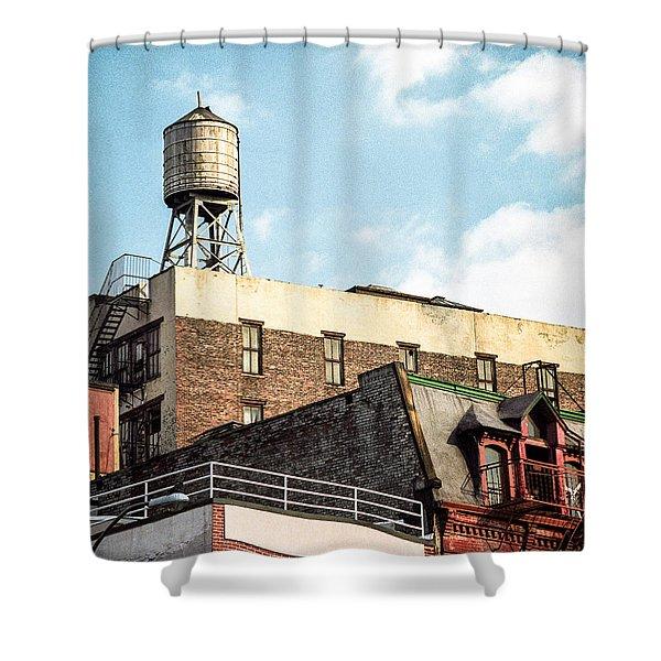 New York City Water Tower 2 Shower Curtain