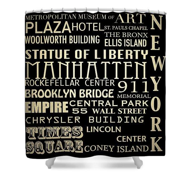 New York Famous Landmarks Shower Curtain