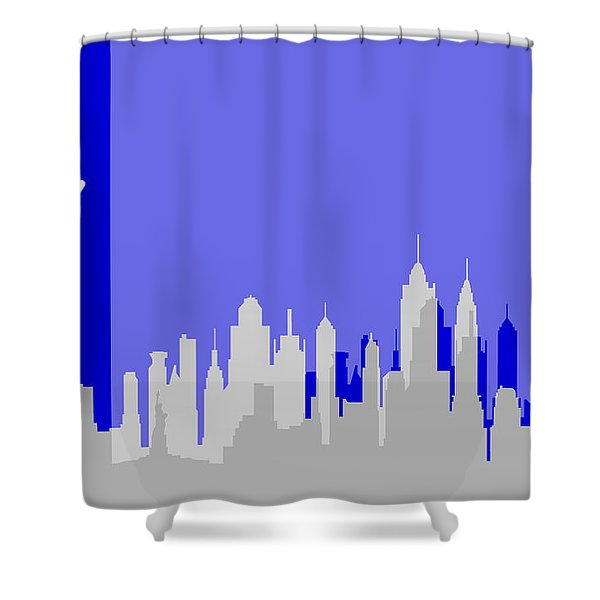 New York Shadows Shower Curtain