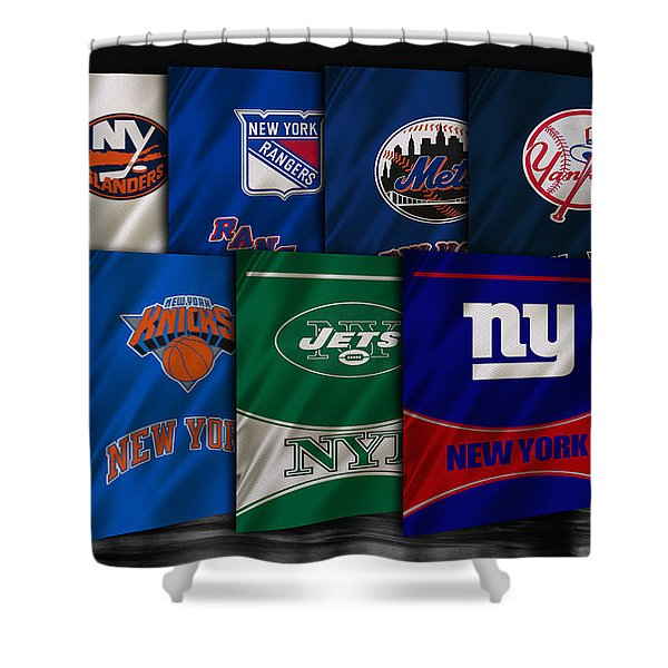 New York Sports Teams Shower Curtain