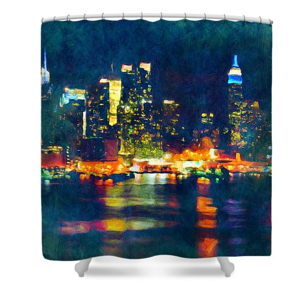 New York State Of Mind Abstract Realism Shower Curtain