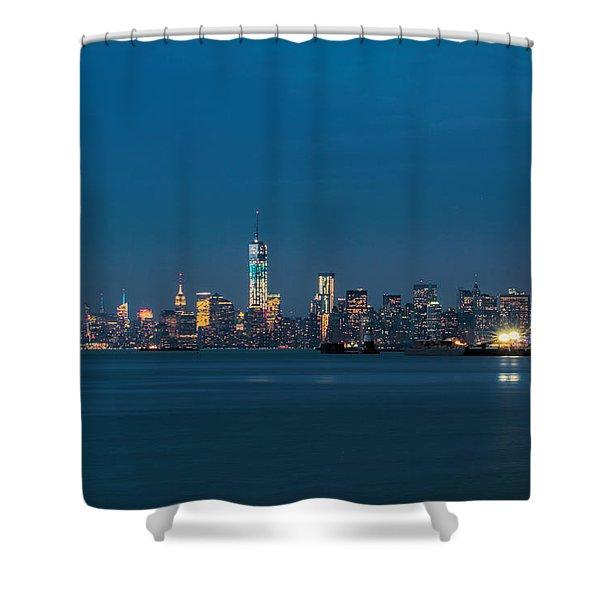 New York Twilight Shower Curtain