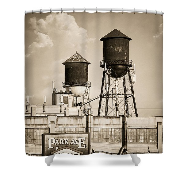 New York Water Tower 8 - Williamsburg Brooklyn Shower Curtain