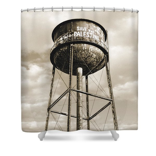 New York Water Towers 11 - Greenpoint Brooklyn Shower Curtain