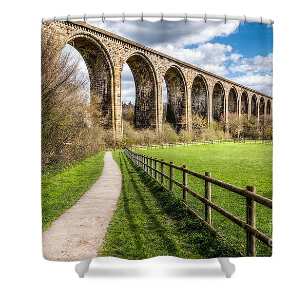 Newbridge Viaduct Shower Curtain
