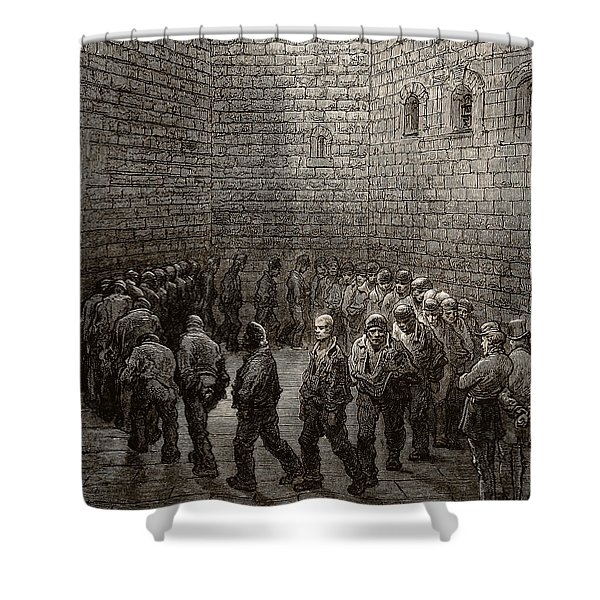 Newgate Prison Exercise Yard Shower Curtain