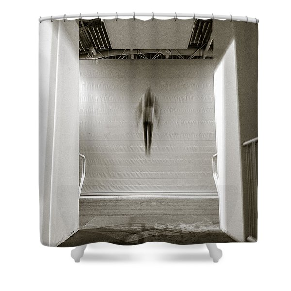 Newton's First Law Shower Curtain