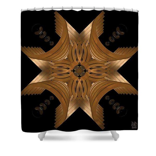 Nexus Shower Curtain by David Voutsinas