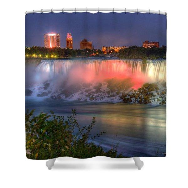 Niagara Falls Canada Sunset  Shower Curtain