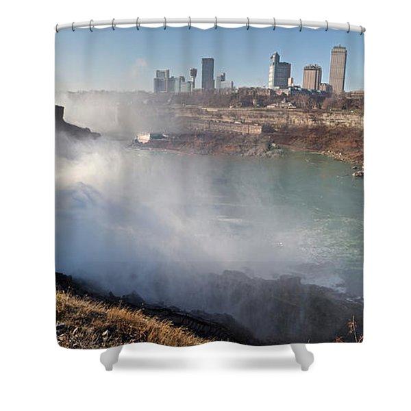 Niagara Falls Panorama Shower Curtain