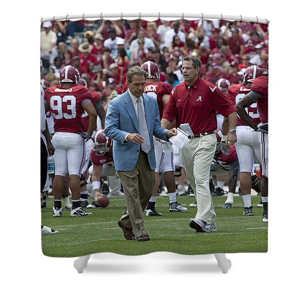 Nick Saban And The Tide Shower Curtain