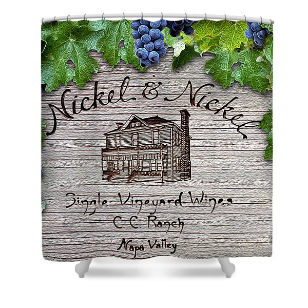 Nickel And Nickel Winery Shower Curtain