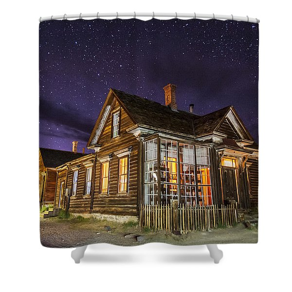 Night At The Cain House Shower Curtain