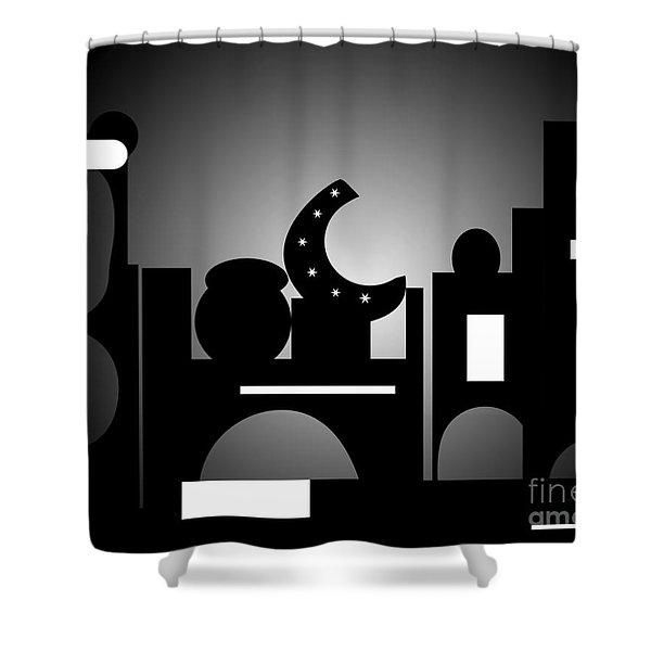 Night Bazaar Shower Curtain