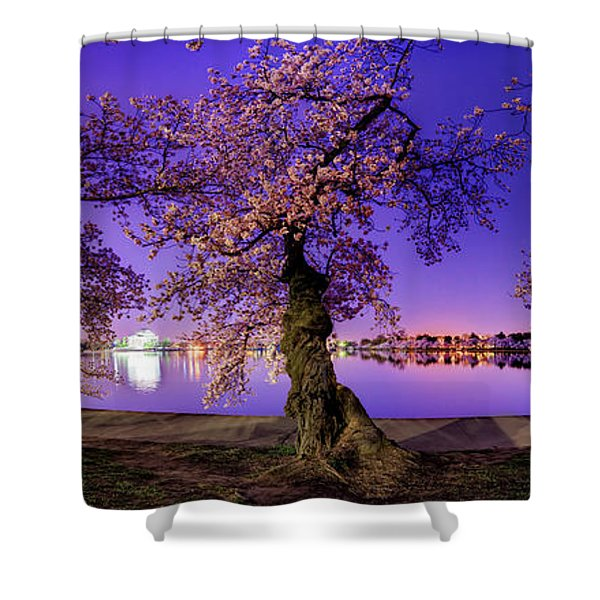 Night Blossoms 2014 Shower Curtain