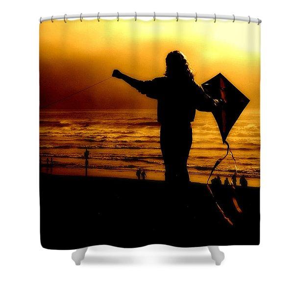 Night Flight Shower Curtain