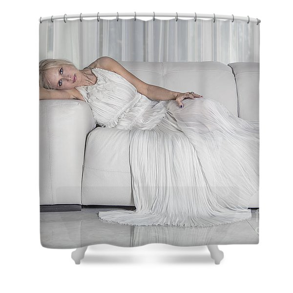 Night In White Satin Shower Curtain