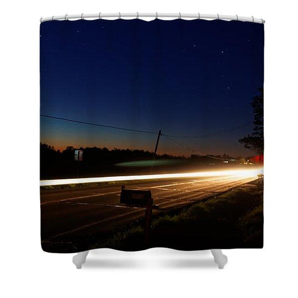 Night Passing Shower Curtain