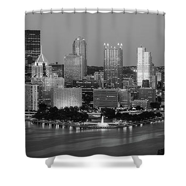 Night, Pittsburgh, Pennsylvania Shower Curtain