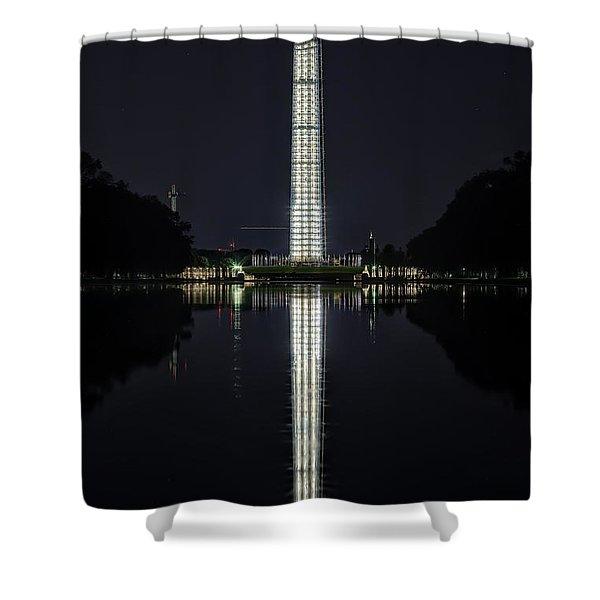 Night Scaffolding Shower Curtain