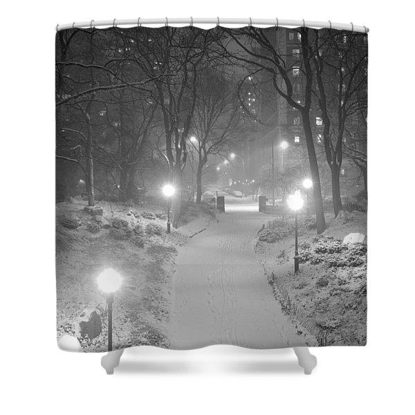 Night Storm New York Shower Curtain