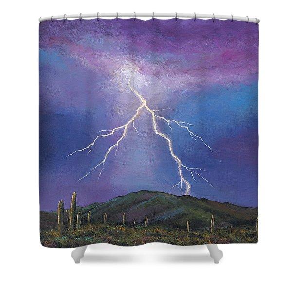 Night Strike Shower Curtain