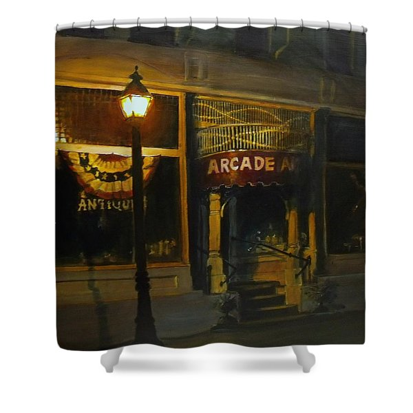 Night Time Shower Curtain