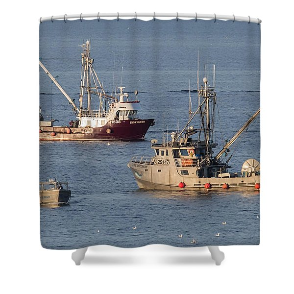 Shower Curtain featuring the photograph Night Train by Randy Hall