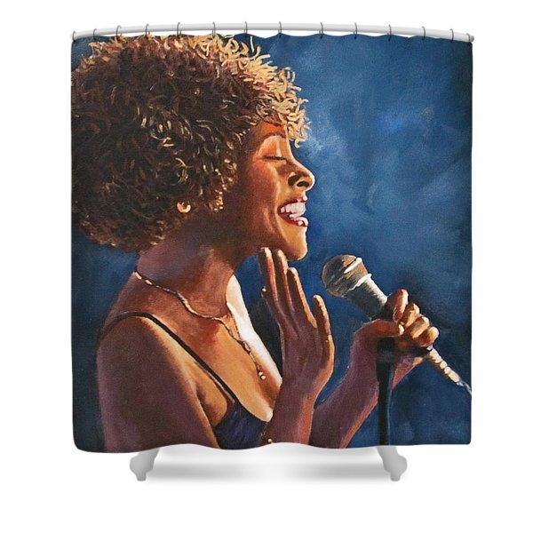 Nightclub Singer Shower Curtain