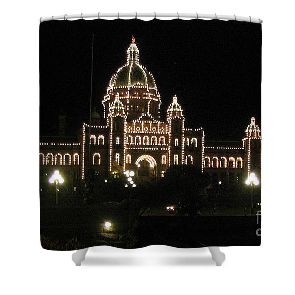 Nightly Parliament Buildings Shower Curtain