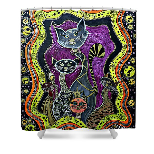 Nine Lives     Shower Curtain