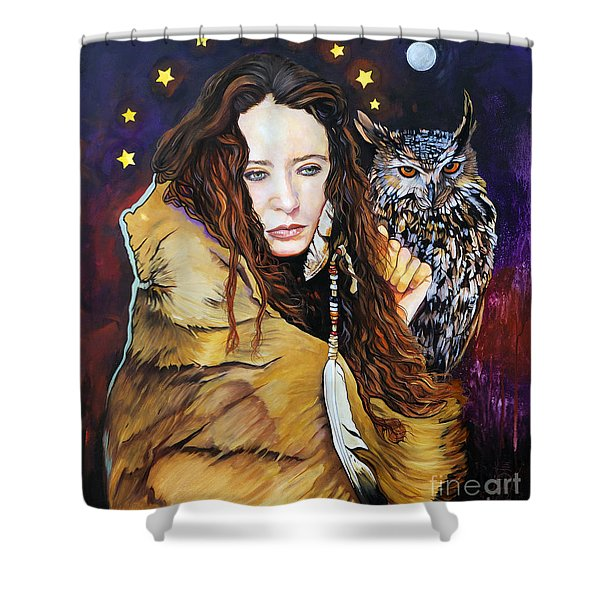 Nine Stars Woman / Owl Medicine Shower Curtain
