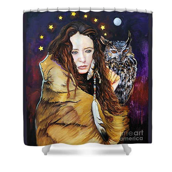 Nine Stars Woman / Owl Medicine Shower Curtain