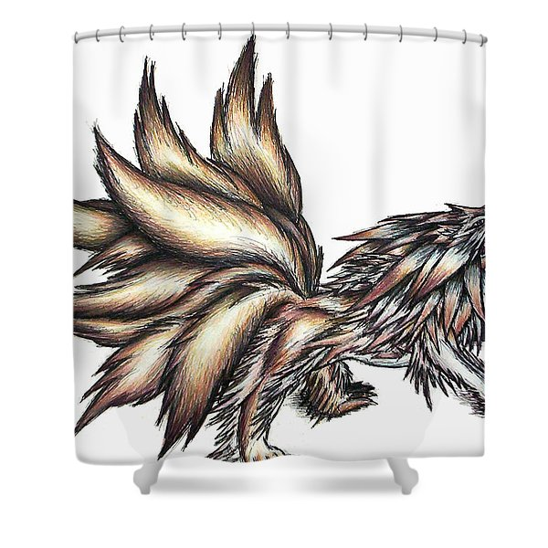 Nine Tails Wolf Demon Shower Curtain