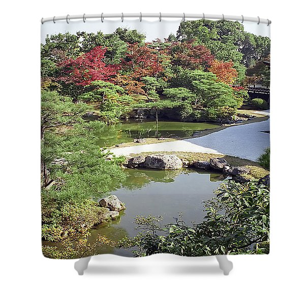 Ninna-ji Temple Garden And Pond - Kyoto Japan Shower Curtain