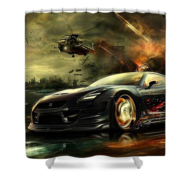 Nissan G T R Shower Curtain