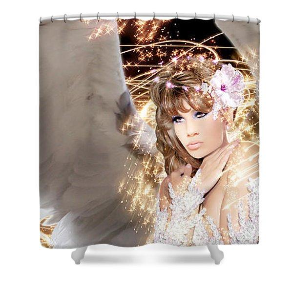 Nissrine An Angels Radiance Shower Curtain