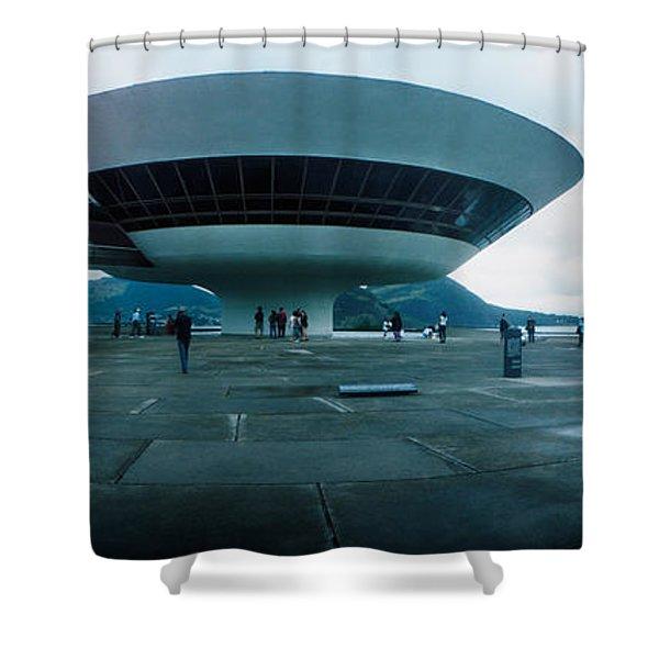 Niteroi Contemporary Art Museum Shower Curtain