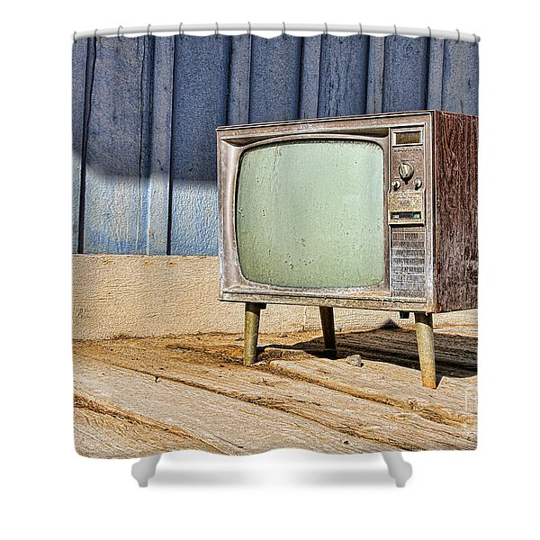 No Channel Surfing - Tv By Diana Sainz Shower Curtain
